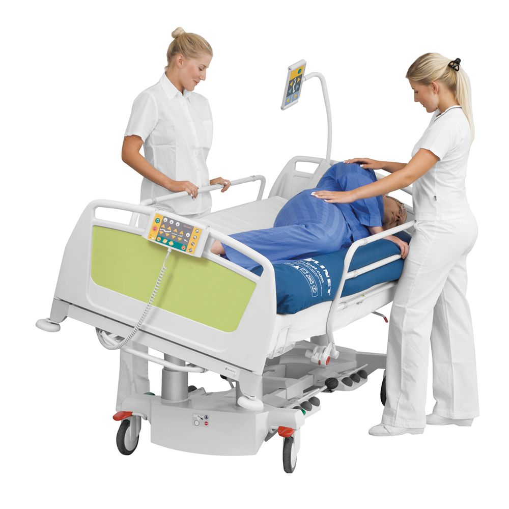 Island At Standard Counter Height Eating Section Dropped: Latera Acute Care Bed