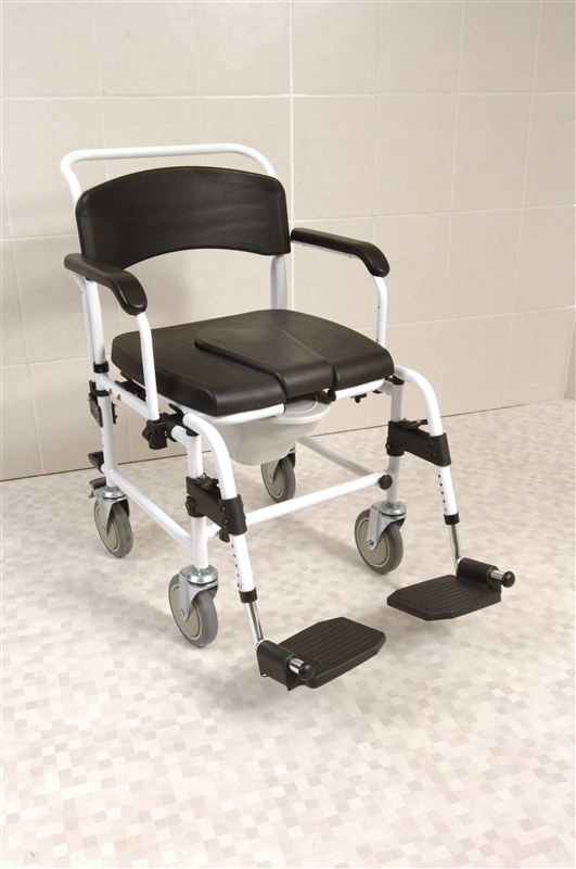 Lightweight Attendant Shower And Commode Wheelchair