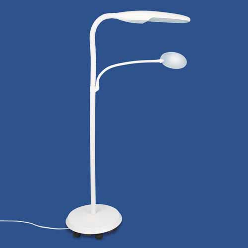 Daylight Swan Floor Lamp With Magnifier Living Made Easy