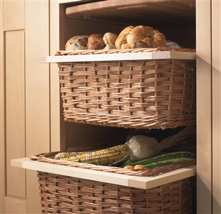 Wicker Basket Drawers With Handles And Runners Living