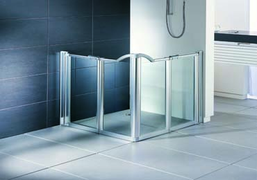 evo half height shower screens