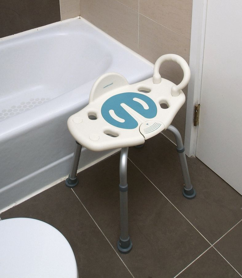 Adjustable Swivel Stool With Grab Bar - Living made easy