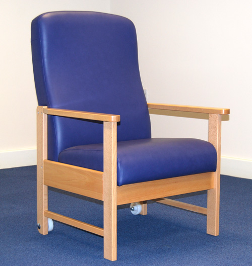 Baros Wooden Framed Bariatric Bedside Chair Living Made Easy