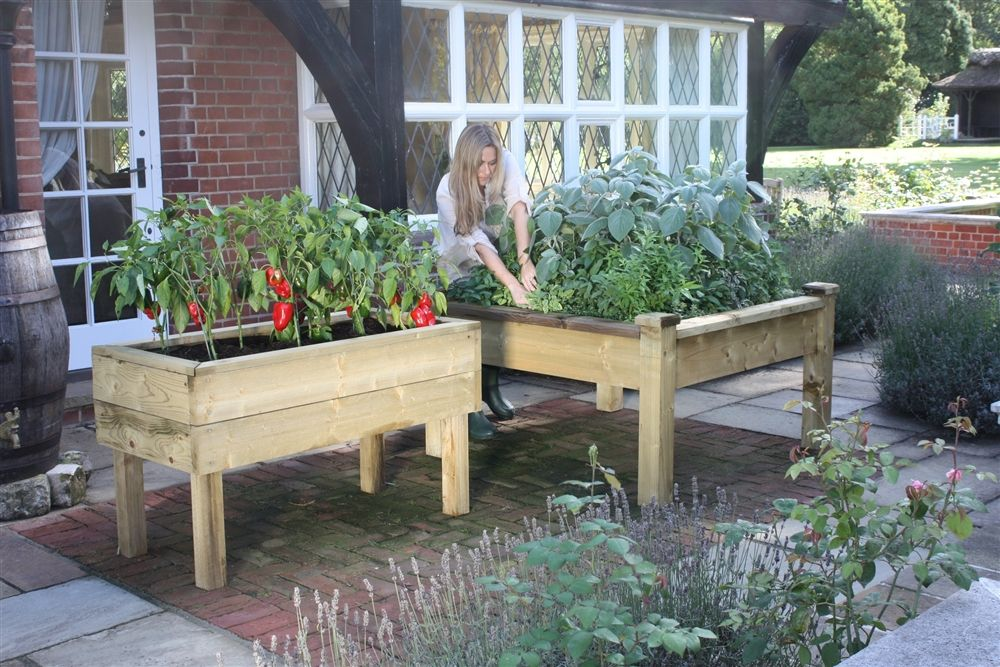 Standard Wooden Raised Bed Tables - Living made easy