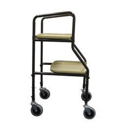 Adjustable Height Trolley With Plastic Shelves 1