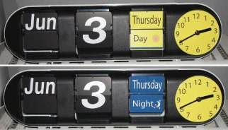 Clairmont Day Night Calendar Flip Clock
