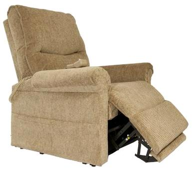 Pride lc107 rise recline chair living made easy for Dual motor recliner chairs