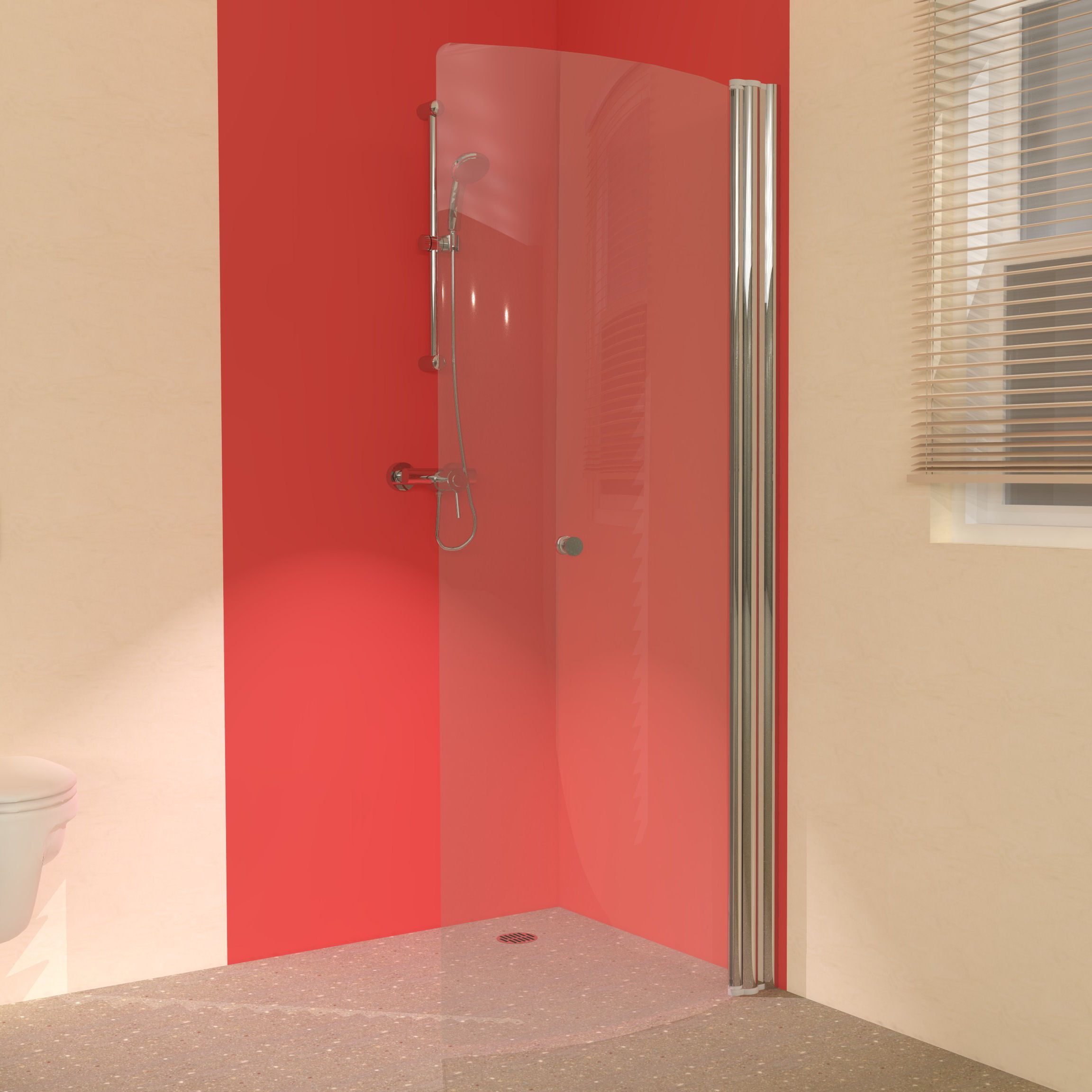 foldaway wet room shower screens