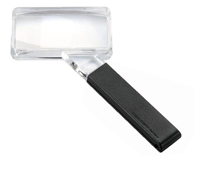 Eschenbach Rectangular Hand Magnifier With Additional Lens