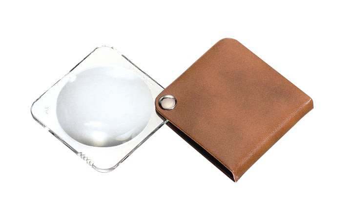 Eschenbach Folding Square Hand Magnifier With Leather Case