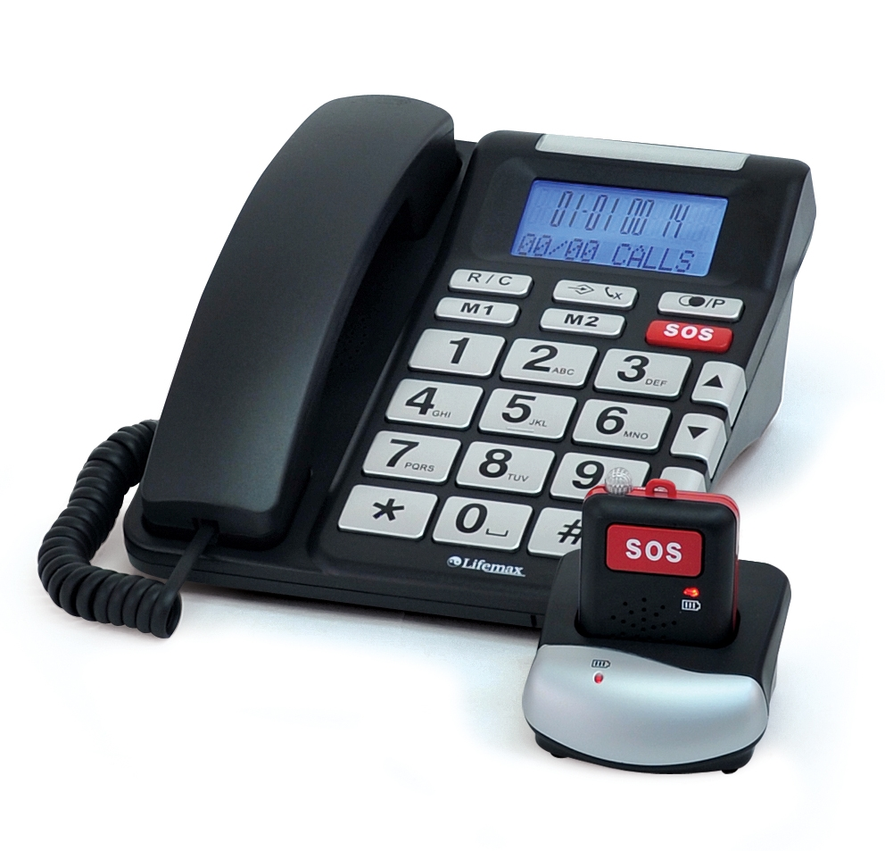 Telephone With Emergency Panic Button