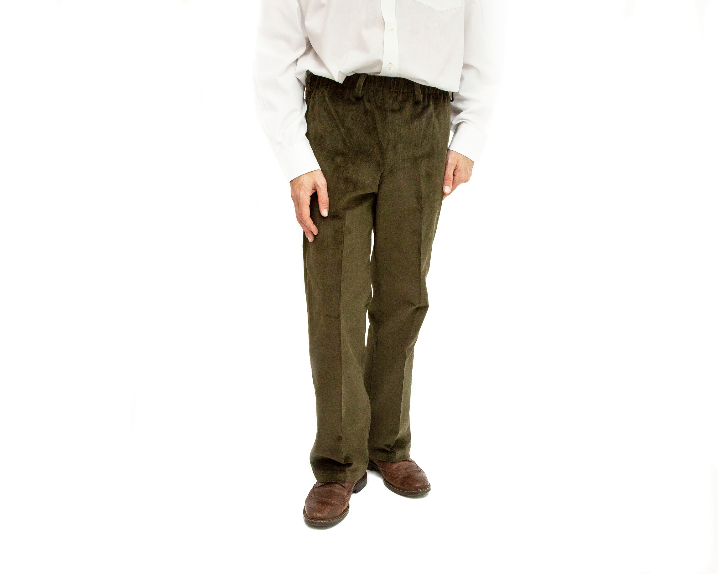 Men's Easy Pull On Elasticated Waist Cords 2