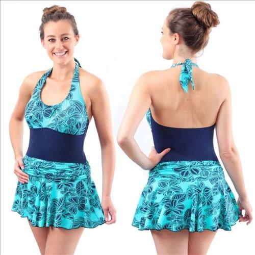 Kes-vir Ladies Skirt Swimsuit 1