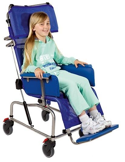 Tilt-in-space Stainless Steel Infant Shower Chair