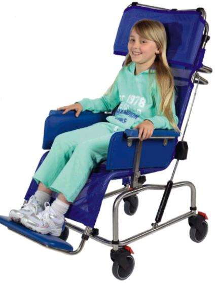 Tilt-in-space Stainless Steel Paediatric Shower Chair