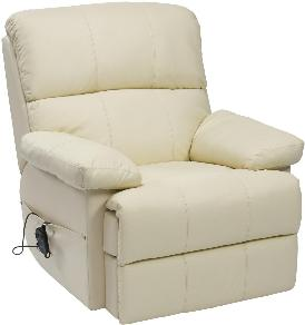 Pleasing Sven Leather Rise Recline Armchair Living Made Easy Ibusinesslaw Wood Chair Design Ideas Ibusinesslaworg