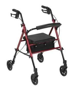 Adjustable Seat Height Rollator 1