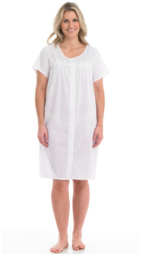 6c3e0bfc21 Slenderella Front Button Nightie - Living made easy