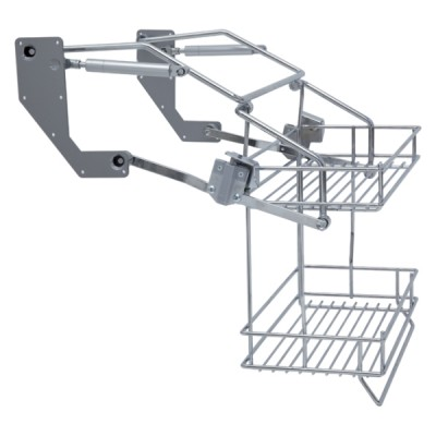 Vibo Pull Down Two Tier Wire Shelves