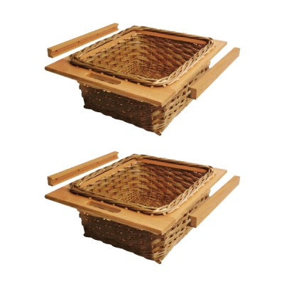 Hafele Wicker Basket Drawers With Beech Frames And Runners