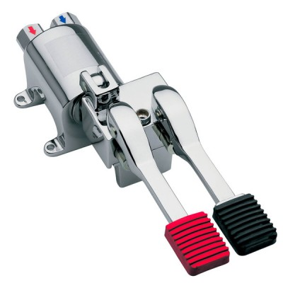 Inta Foot Operated Floor Mounted Mixing Valve with Continuous Flow Stop 2