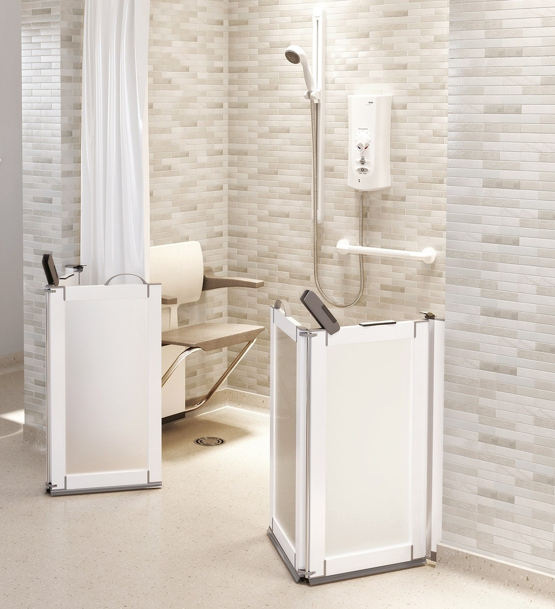 Impey Elevate Half Height Shower Doors Living Made Easy