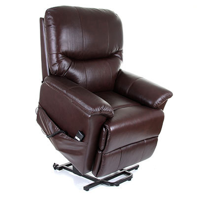 Montreal Single Motor Leather Riser Recliner