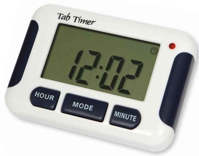 Tabtimer 8 Alarm Pill & Medication Timer Reminder