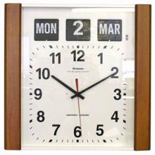 Wood Panel Calendar Clock