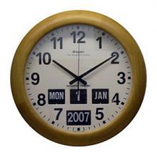 Wooden Bezel Calendar Clock