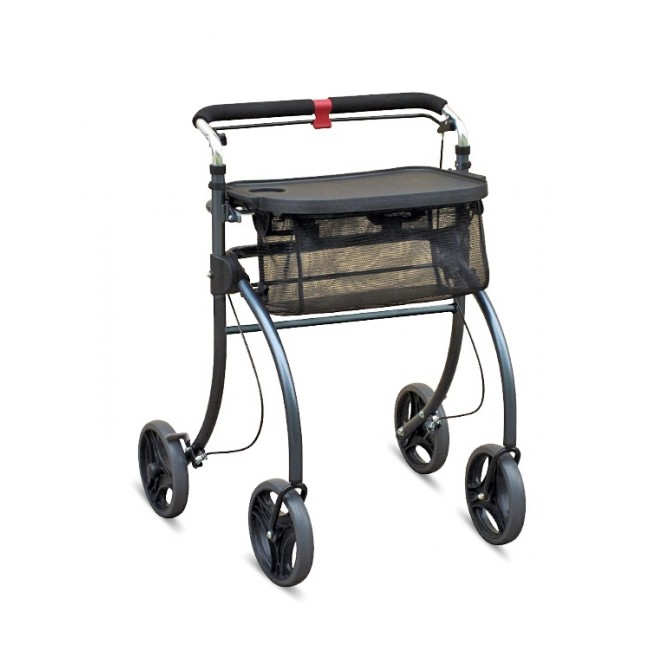 Aluminium Indoor Rollator With Tray & Bag 1