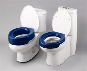 Blue Foam Raised Toilet Seat