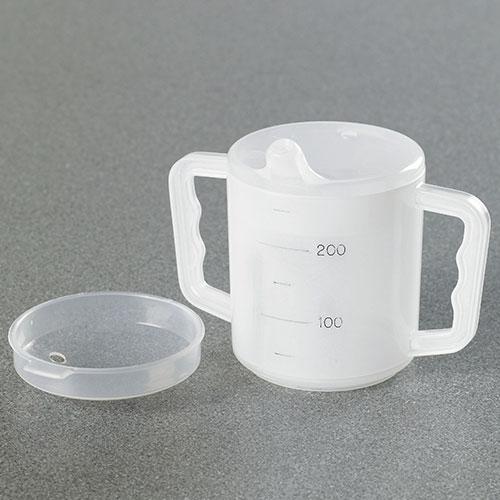 Two Handled Mug With Two Lids