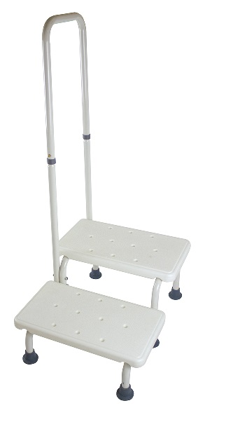 Double Step Stool With Handerail 1