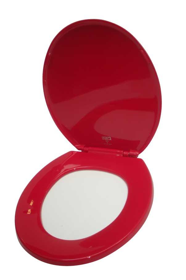 Fabulous Eastin Red Standard Toilet Seat Bemis Ltd Toilet Seats Theyellowbook Wood Chair Design Ideas Theyellowbookinfo
