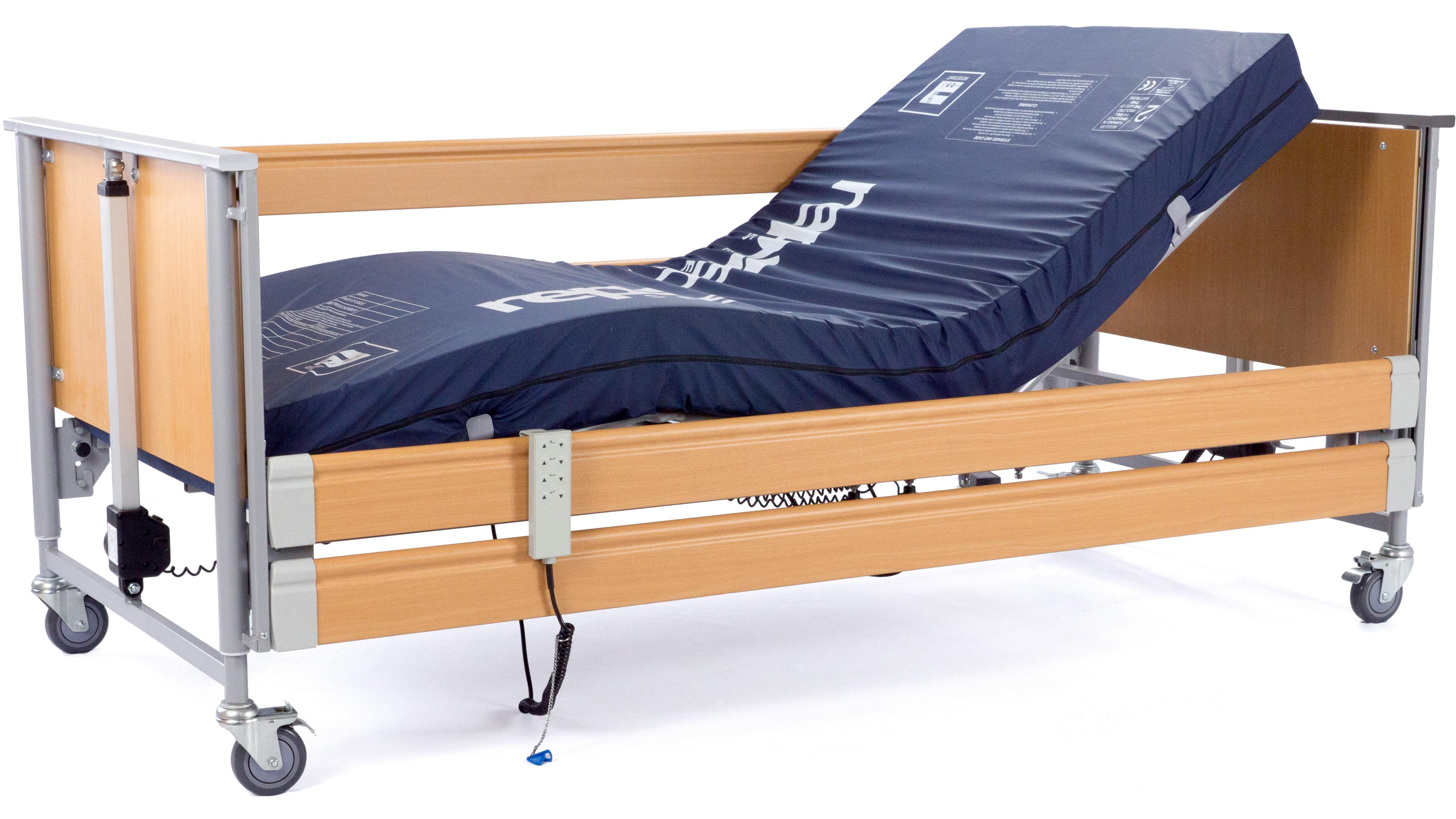 opera eco profiling bed with integral side rails. Black Bedroom Furniture Sets. Home Design Ideas