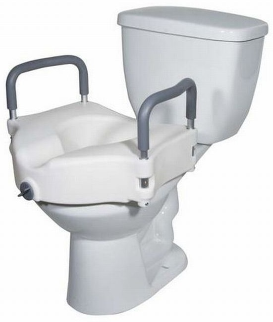 2 In 1 Locking Elevated Toilet Seat