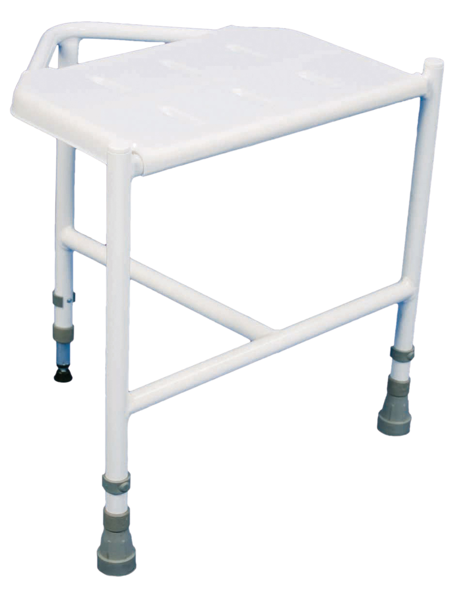 Pembury Height Adjustable Corner Shower Stool - Living made easy