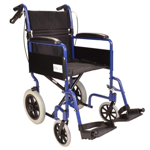 Lightweight Folding Wheelchair With Handbrakes