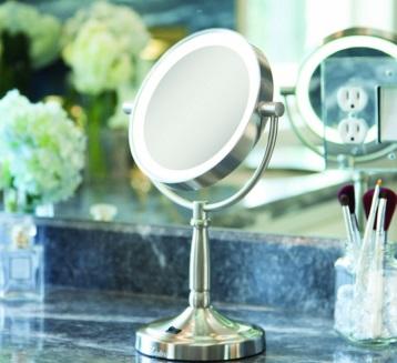 Cordless Illuminated Magnification Mirror
