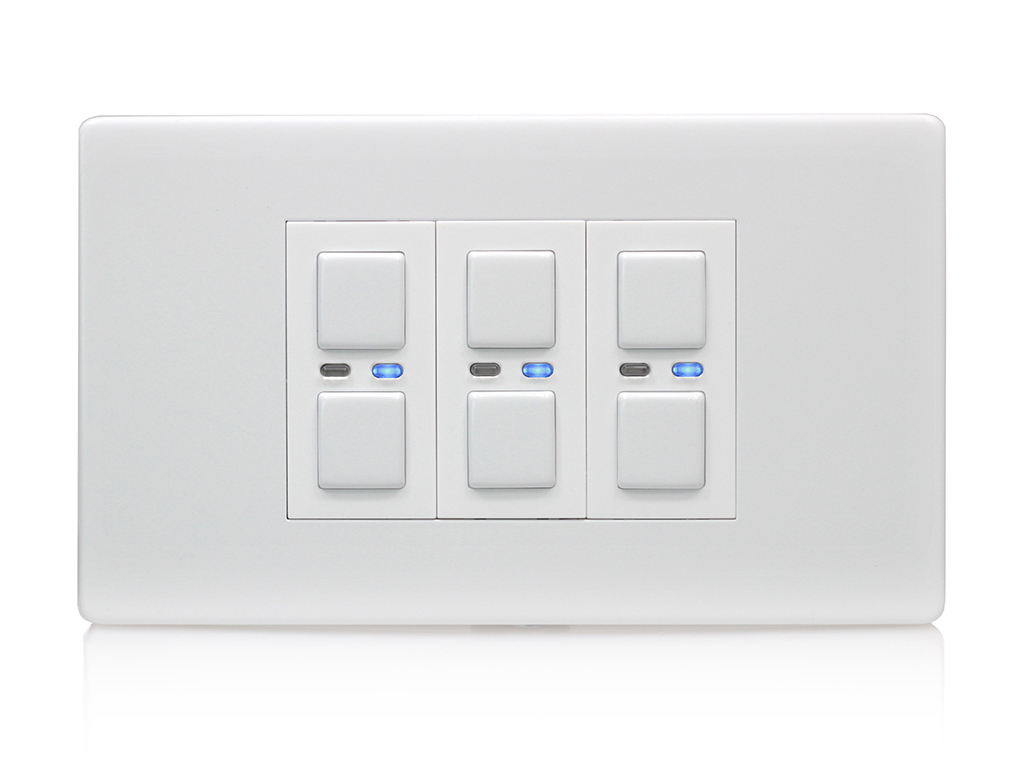 Lightwaverf 3-gang Dimmer Switch