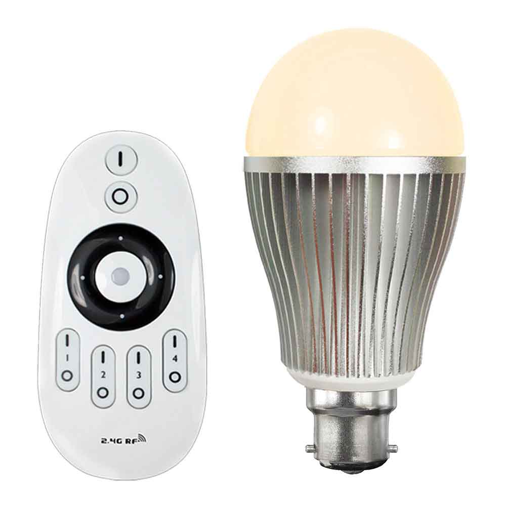 Colour Temperature Adjustable Led Light Bulb With Remote Control