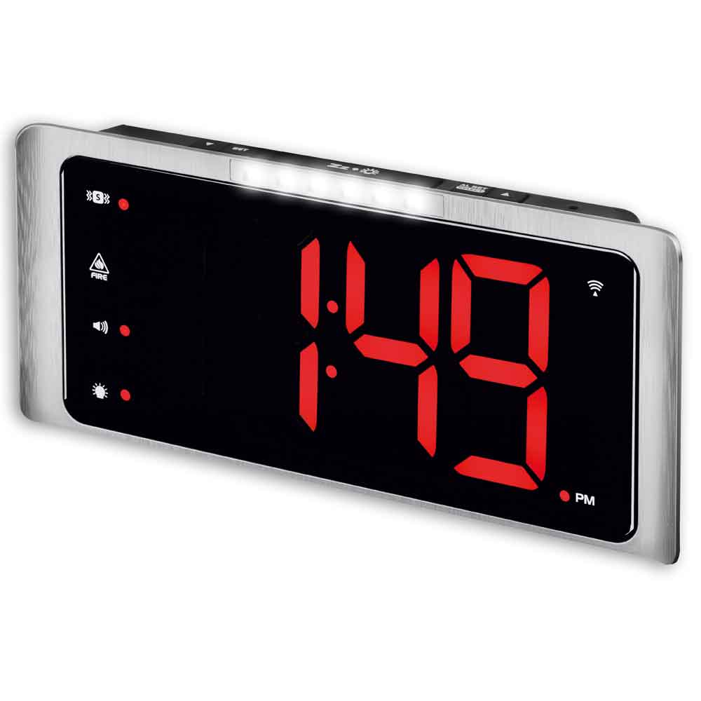 Big Display Radio Controlled Digital Extra Loud Alarm Clock 2