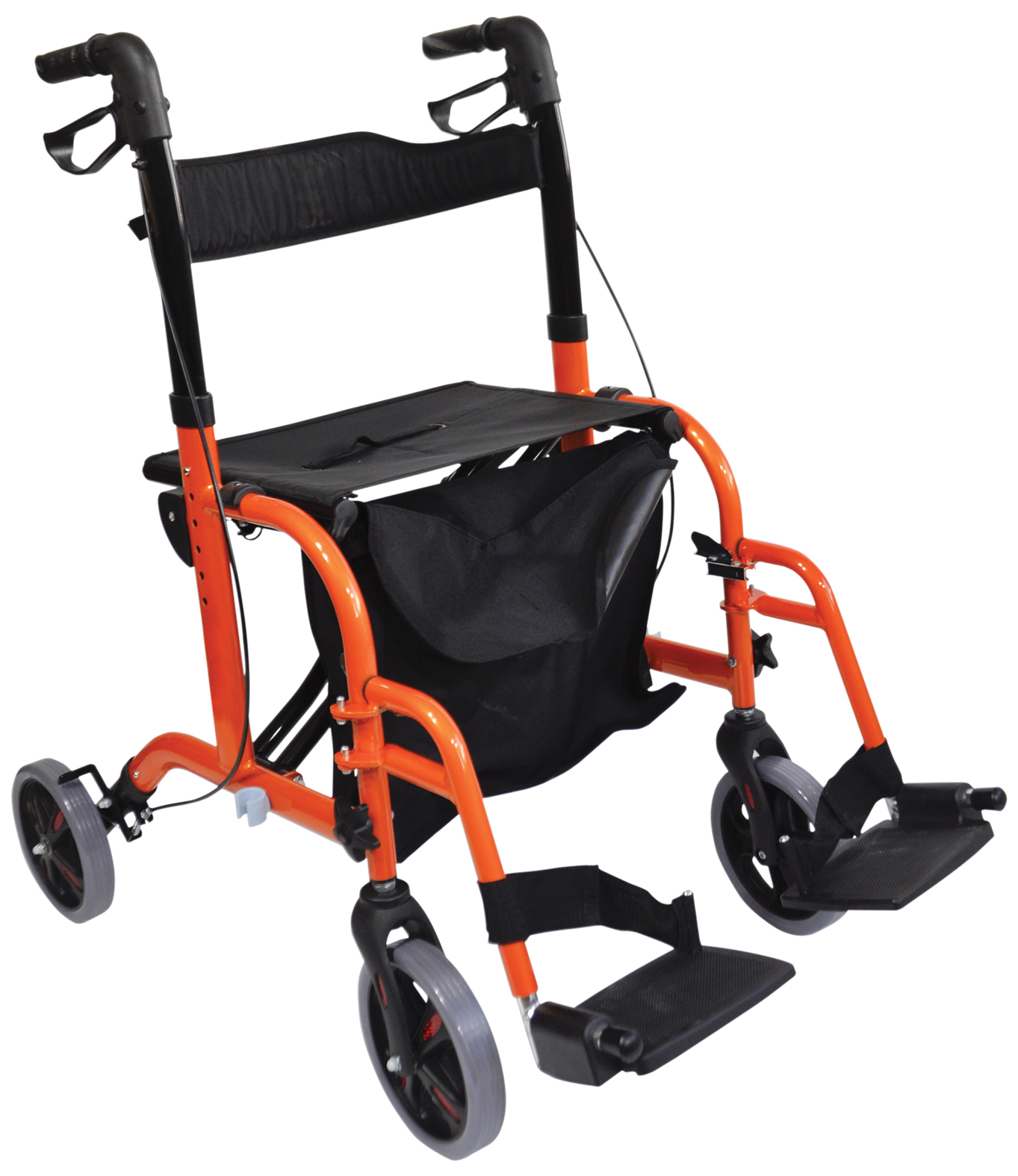 Aidapt Duo Deluxe Rollator And Transit Chair In One 1