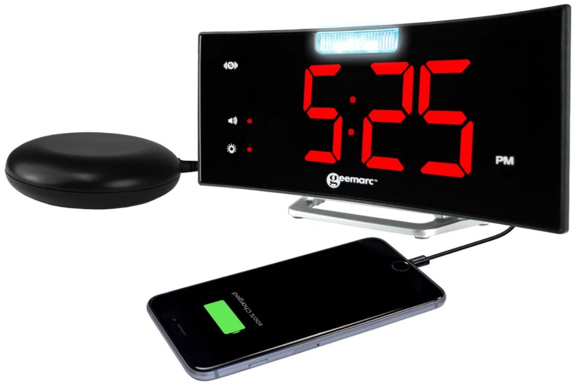 Wake N Shake Curve Alarm Clock 1