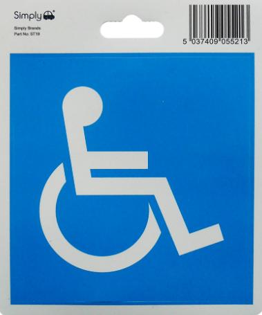 Disabled Badge Sticker 1