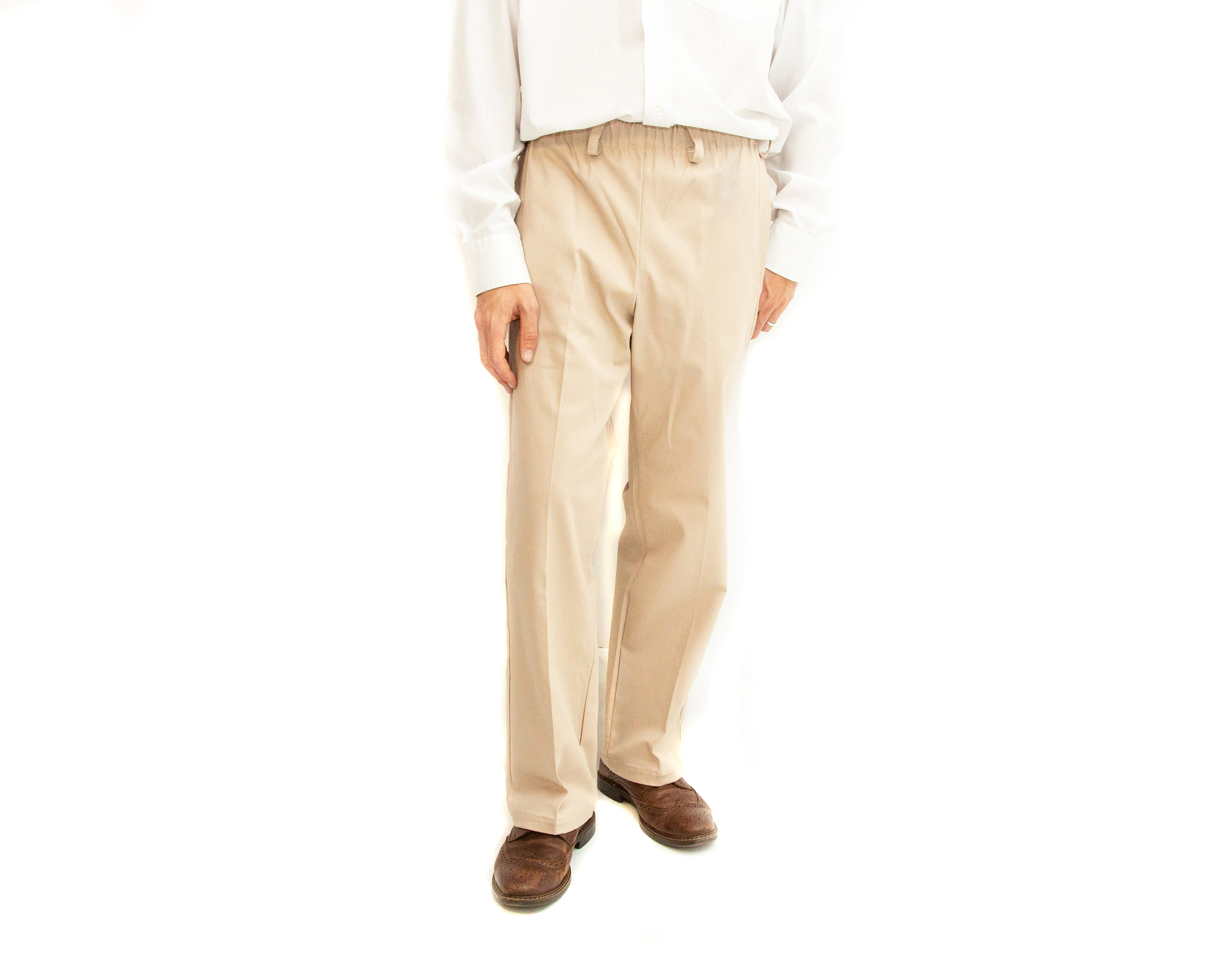 Men's Easy Pull On Elasticated Waist Chinos 2