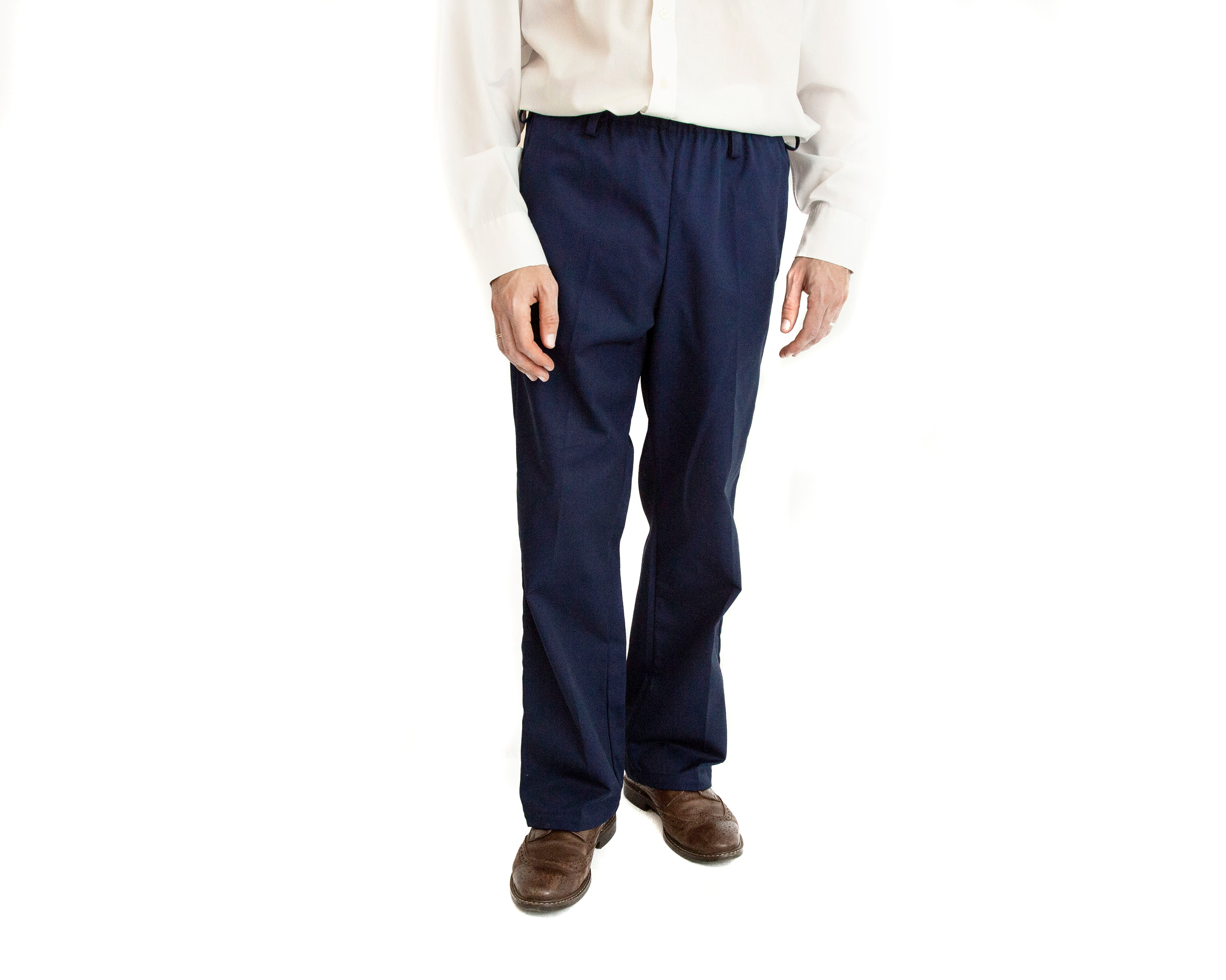 Men's Easy Pull On Elasticated Waist Chinos 1