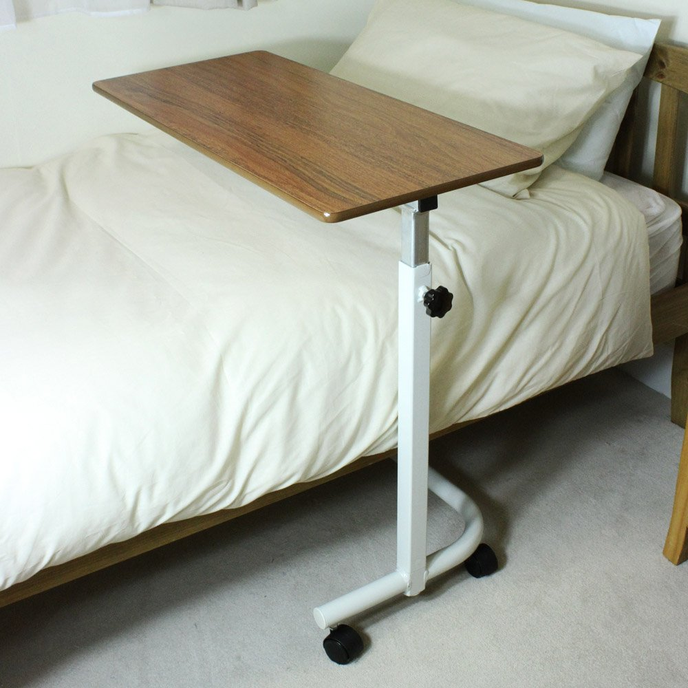 Nrs Height Adjustable Over Bed Table Living Made Easy