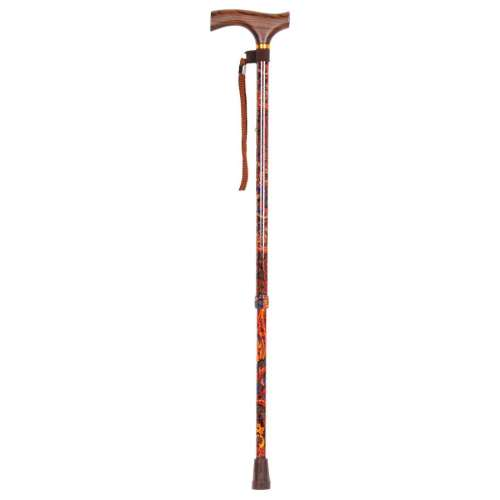 Adjustable Height Crutch Handled Walking Stick